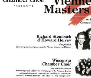Programs – 1st Decade – Wisconsin Chamber Choir